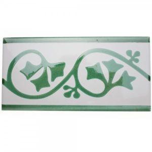 CARRELAGE - PAREMENT Frise listel Printania vert 20 x 10cm