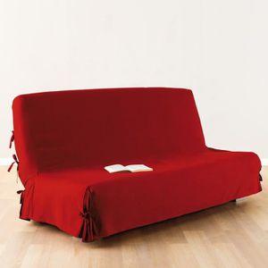 paris prix housse de clic clac tissu rouge achat vente housse de canape cdiscount. Black Bedroom Furniture Sets. Home Design Ideas