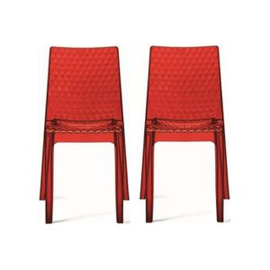 Chaise rouge transparente achat vente chaise rouge transparente pas cher les soldes sur - Chaises transparentes fly ...