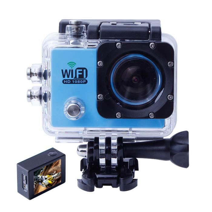bleu sj 6000 style wifi action camera w9 12mp cmos full hd 1080p tanche plong e 30m 2 0. Black Bedroom Furniture Sets. Home Design Ideas