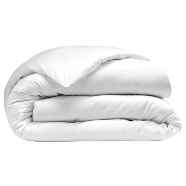 housse de couette 200 x 200 cm satin blanc uni achat vente housse de couette les soldes. Black Bedroom Furniture Sets. Home Design Ideas