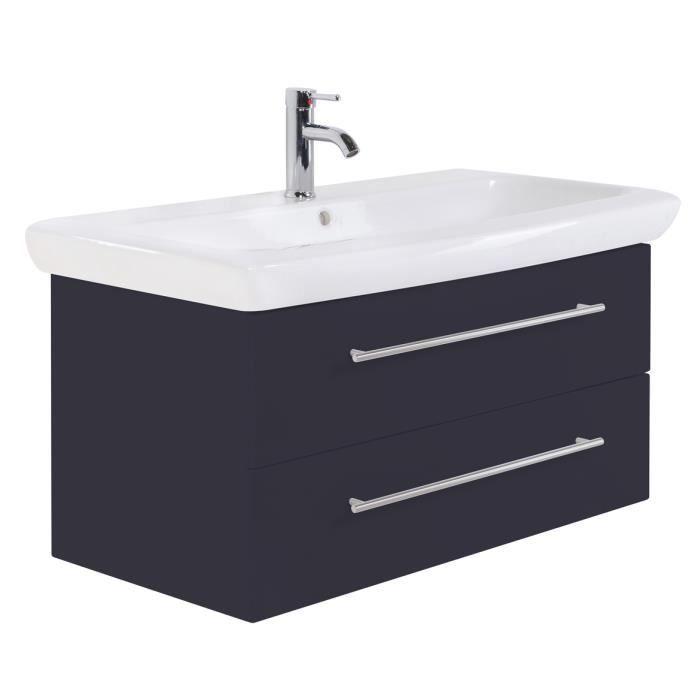Meuble sous lavabo keramag it 100 cm anthracite satin - Meuble sous lavabo 45 cm ...