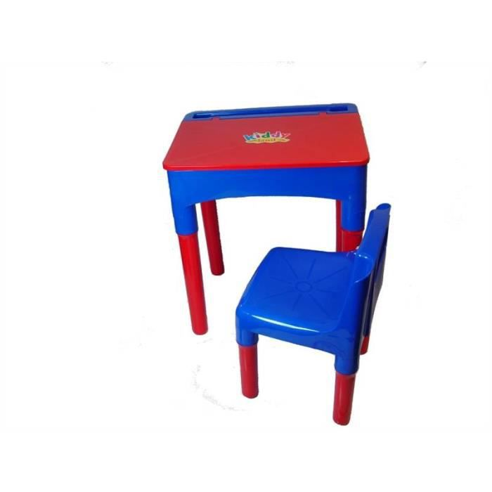 set table et chaise pour enfant bureau rouge et bleu par strong plastic achat vente table et. Black Bedroom Furniture Sets. Home Design Ideas