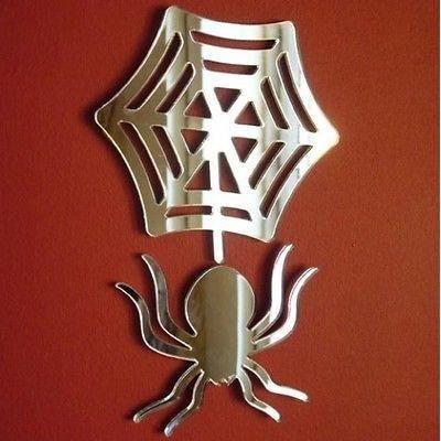 Araignee et toile miroir 45 cm x 30 cm achat vente for Miroir acrylique incassable