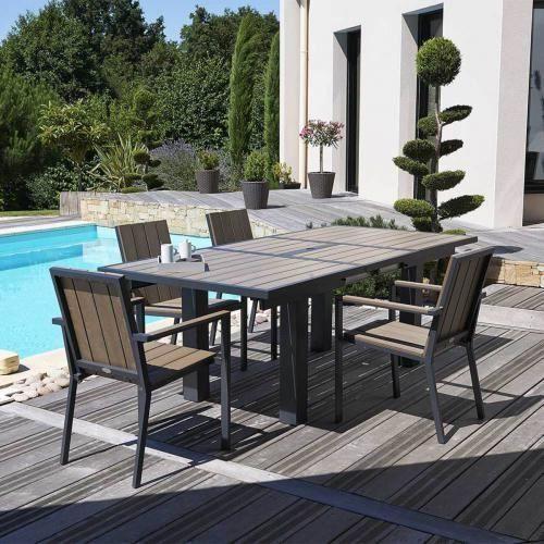 table bois composite achat vente table bois composite. Black Bedroom Furniture Sets. Home Design Ideas