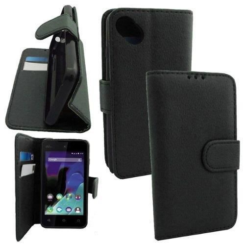 Etui housse portefeuille support video cuir pour wiko for Housse wiko sunny 2