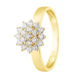 BAGUE - ANNEAU MONTE CARLO STAR Bague Or Jaune 750° et Diamants 0