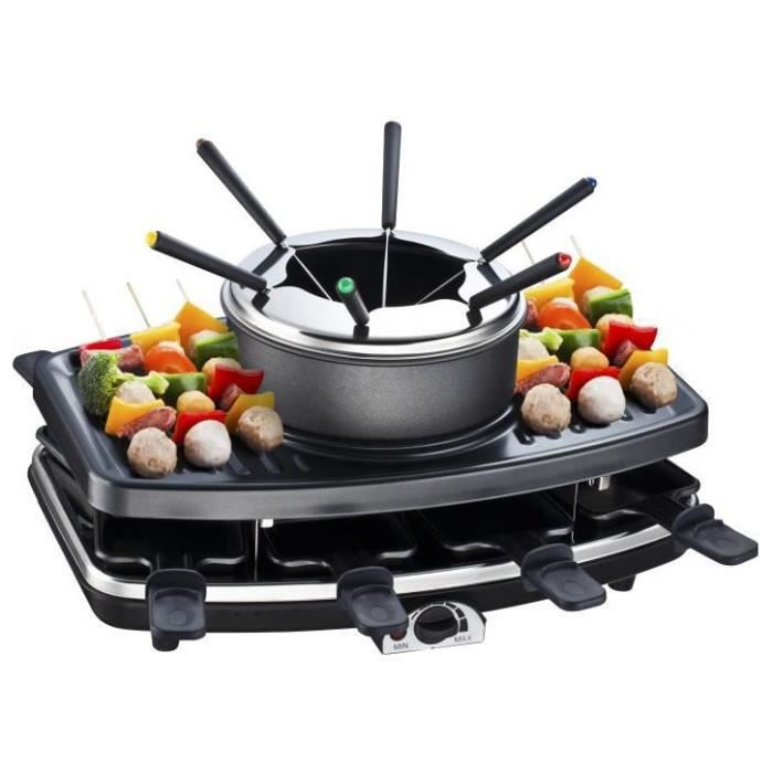 fondue raclette grill continental edison fd12881 achat. Black Bedroom Furniture Sets. Home Design Ideas
