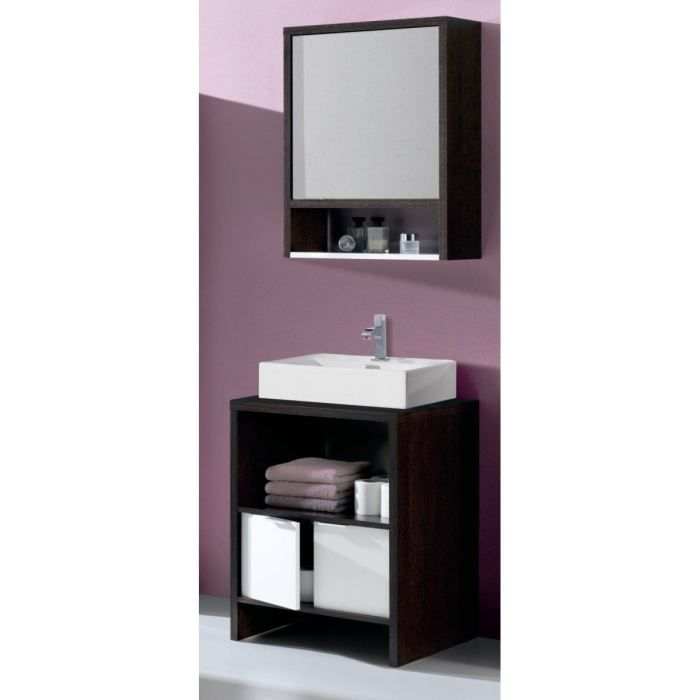 Daphne salle de bain compl te avec vasque miroir achat for Meuble salle de bain avec vasque et miroir