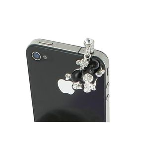Bijoux de téléphone Bijoux téléphone portable ELEPHANT STRASS Noir