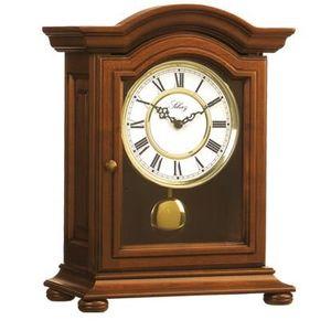 pendule horloge a poser bois massif merisiser achat. Black Bedroom Furniture Sets. Home Design Ideas