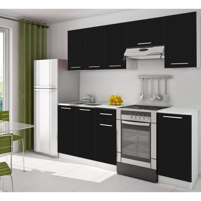 Cuisine complete 2m20 noir achat vente cuisine for Achat cuisine complete