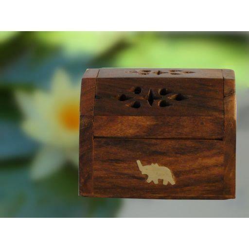 Petite boite a encens en bois elephant achat vente for Petite porte bois