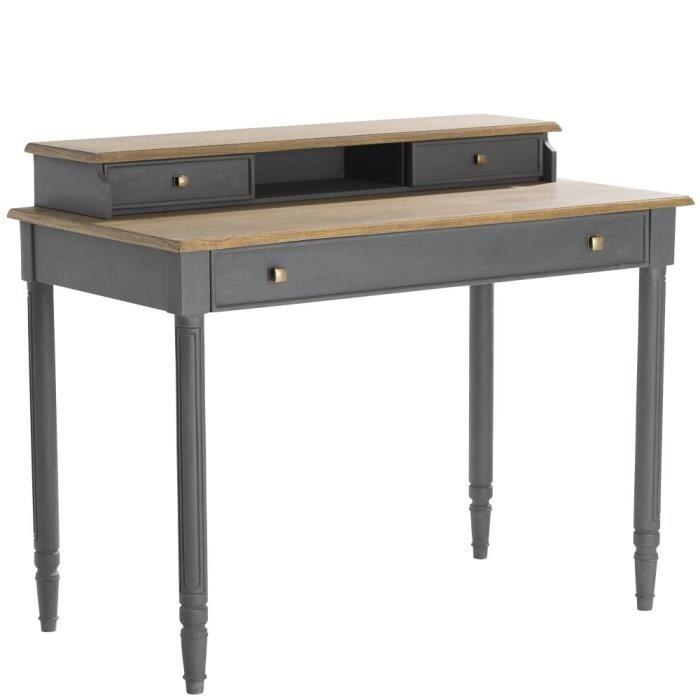 Bureau ch ne gris leon h91xl110xp60cm amadeus achat for Bureau 60 cm largeur
