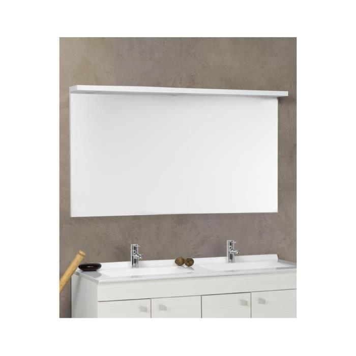 miroir avec bandeau 3 spots senetosa 124 cm achat. Black Bedroom Furniture Sets. Home Design Ideas