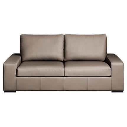 Canap 3 places cuir mercure taupe achat vente canap - Canape cuir taupe ...
