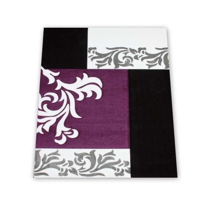 Tapis pas cher daisy baroque violet 200x290 en achat - Tapis maison pas cher ...
