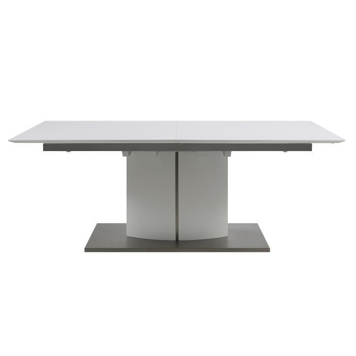 Grande table de s jour cantara en bois laqu blanc achat for Table de sejour blanc laque