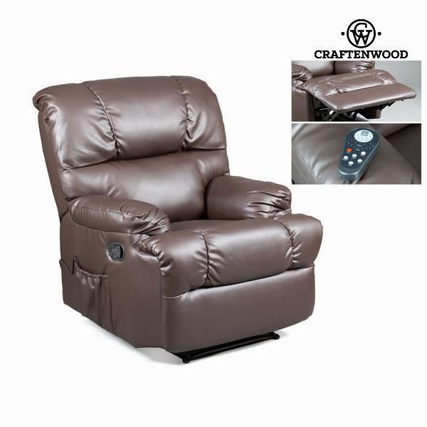 Fauteuil relax avec massage marron by craften wood achat vente fauteuil - Cdiscount fauteuil relax ...