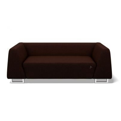 Canap fixe 3 places greensofa modd chocolat achat for Canape fabrique en france