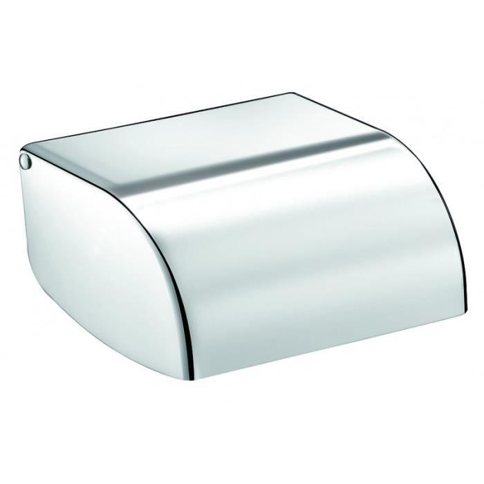 Porte papier wc inox poli brillant rouleau plastique for Rangement papier wc