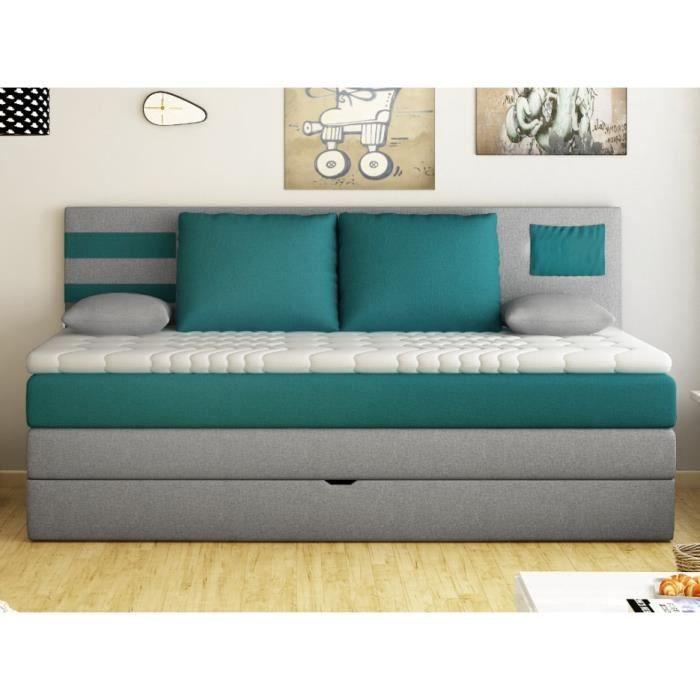lit coffre sommier et matelas achat vente lit coffre sommier et matelas pas cher cdiscount. Black Bedroom Furniture Sets. Home Design Ideas