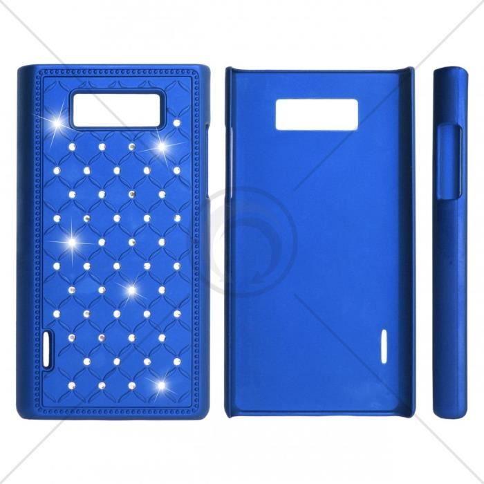 """"""" pour iPhone 4/4s bleu HQ - EGO HARD CASE """"ZIRCONIA"""" pour iPh..."""
