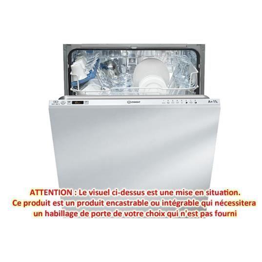 Lave vaisselle int grable difp18b1aeu indesit achat for Consommation d eau lave vaisselle