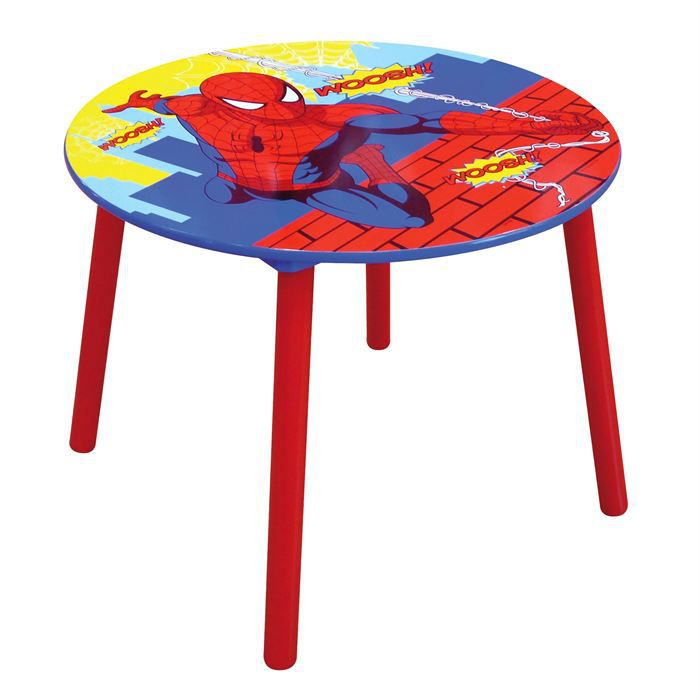 Table ronde spiderman achat vente table b b cdiscount - Table et chaise spiderman ...