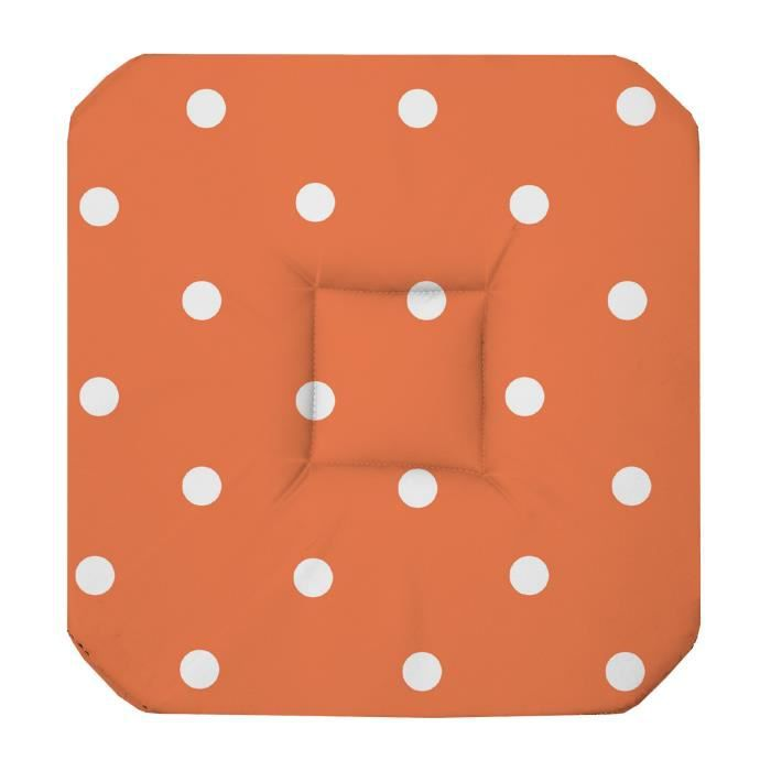 galette de chaise 4 rabats lollypop orange achat vente coussin de chaise cdiscount. Black Bedroom Furniture Sets. Home Design Ideas