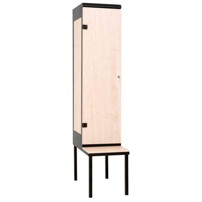 armoire vestiaire avec banc 1 porte achat vente meuble d 39 entr e armoire vestiaire avec banc. Black Bedroom Furniture Sets. Home Design Ideas