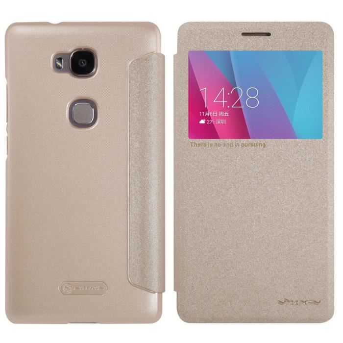 Pour huawei honor 5x coque tui housse luxe pu cuir tui for Housse honor 5x