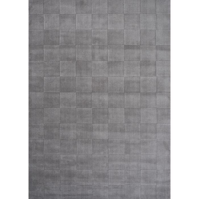 Tapis pour salon uni luzern gris clair 170x240 par unamourdetapis tapis mod - Tapis gris clair pas cher ...