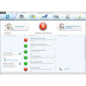 Logiciel PC MAGIX PC Check Up et Tuning 2013 - Les points clés . Utilisation : PC. Type : Bureautique. Genre (uniquement Bureautique) : Utilitaire. Caracteristiques generales ? Voir la présentation