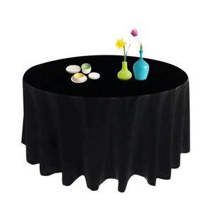 Nappe rondes noir achat vente nappe rondes noir pas - Nappe pour table ronde ...