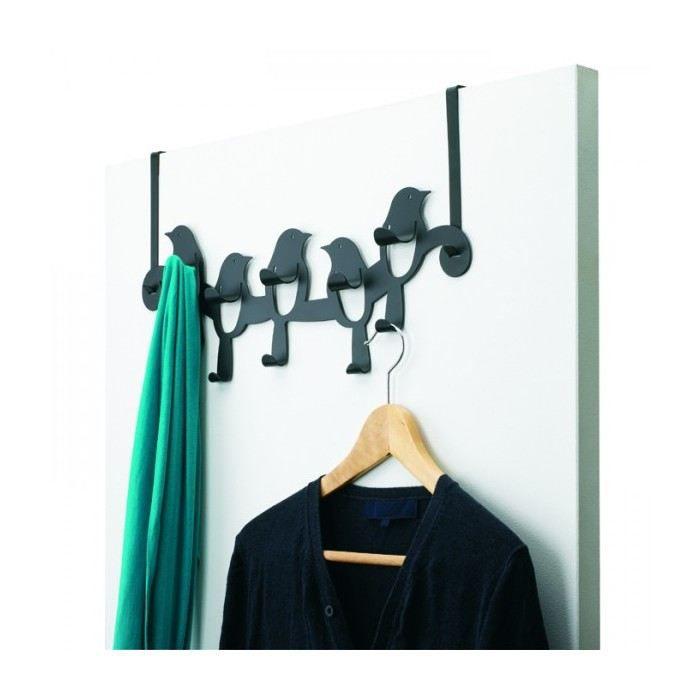 Porte manteaux pour porte design black birds co achat vente porte mantea - Porte manteau patere ...