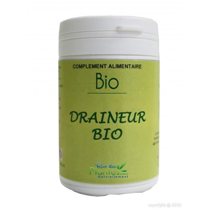 Draineur bio 120 gélules - Achat / Vente complément
