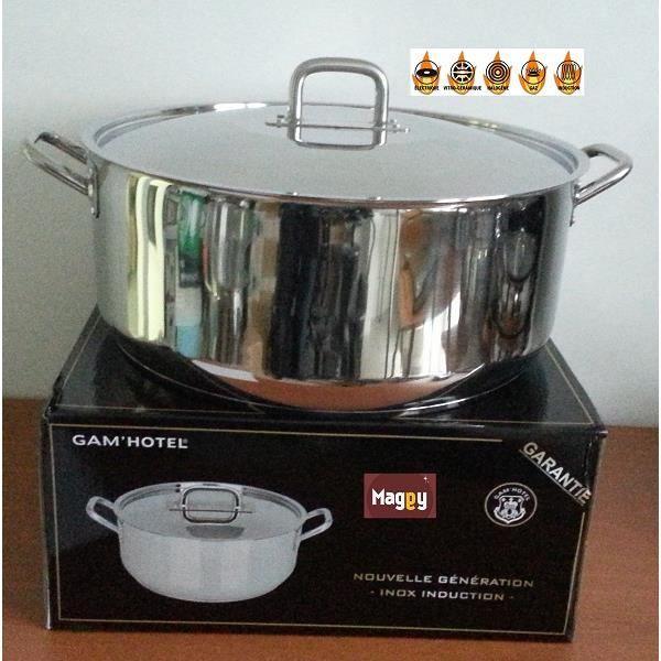 marmite faitout 70 litres en inox tous feux induction. Black Bedroom Furniture Sets. Home Design Ideas