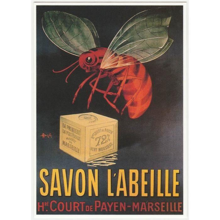 Carte postale savon l 39 abeille marseille achat vente affiche drape - Affiches decoration interieure ...