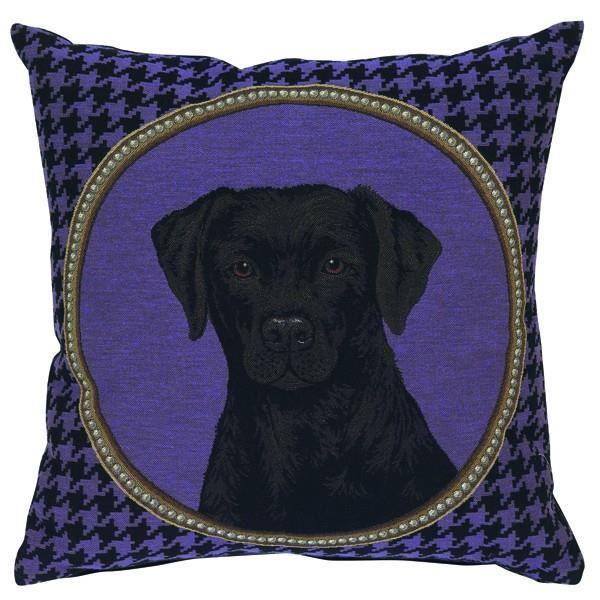 coussin t te de chien labrador violet 45 x 45 c achat vente coussin cdiscount. Black Bedroom Furniture Sets. Home Design Ideas