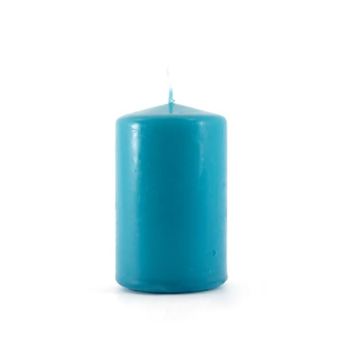 Bougie Cylindrique Bleu Turquoise Achat Vente Bougie Cdiscount