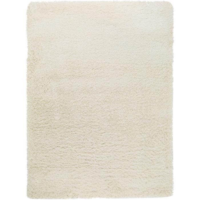 benuta tapis poils longs sophie blanc 60x115 cm achat vente tapis cdiscount. Black Bedroom Furniture Sets. Home Design Ideas