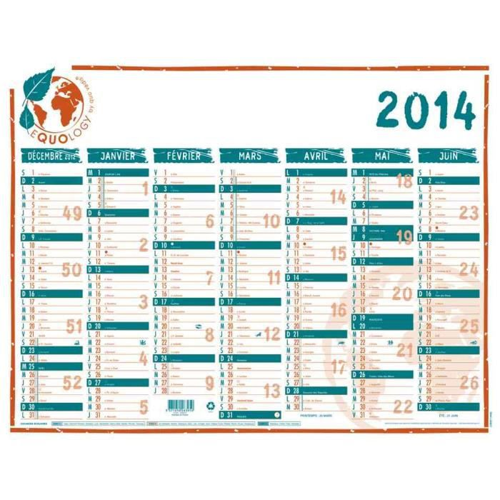 Calendrier mural equology 2014 550 x 405 mm 2 f achat for Call for mural artists 2014