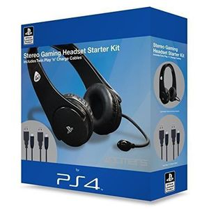playstation 4 officially licensed stereo gaming headset starter kit ps4 achat vente casque. Black Bedroom Furniture Sets. Home Design Ideas