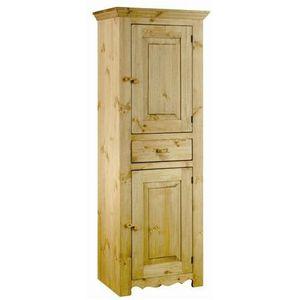 BONNETIERE Bonnetière rustique en pin 2 portes + 1 tiroir