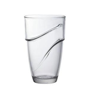 Verre à eau - Soda DURALEX Boîte 6 Gobelets Wave 36 cl transparent