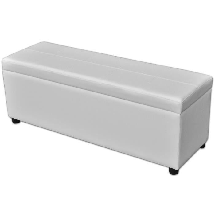 P156 banc de rangement en bois blanc achat vente banc blanc cdiscount - Banc de rangement blanc ...