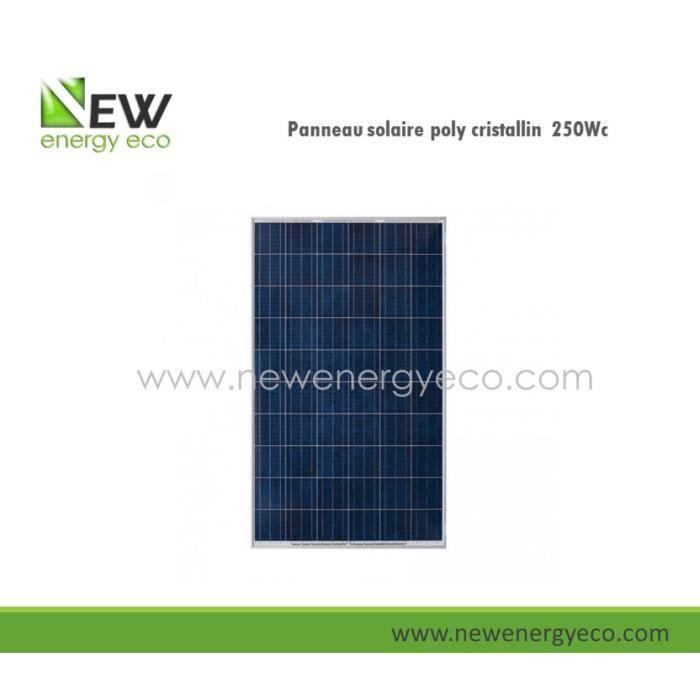 panneaux solaires polycristallin 250w achat vente kit. Black Bedroom Furniture Sets. Home Design Ideas