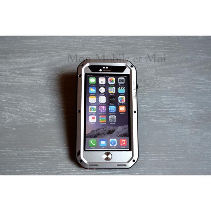 iphone 6 coque love mei gris antichoc etanche achat coque bumper pas cher avis et meilleur. Black Bedroom Furniture Sets. Home Design Ideas