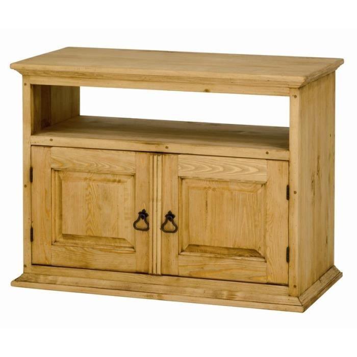 meuble tv 2p en pin cit style montagnard alpage achat vente meuble tv meuble tv 2p en pin. Black Bedroom Furniture Sets. Home Design Ideas